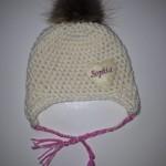 Babymütze Sophia mit Echtfellbommel Preis: 22€