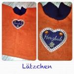"""Lätzchen """"Herzbub"""" Preis: 17,90€"""
