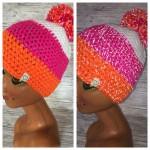 Reflektionsmütze weiß/pink/orange Preis: 25€