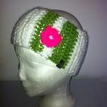 Stirnband weiß/grün Preis: 20€