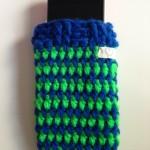 gehäkelt grün / blau Preis: 16€