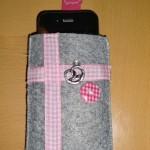 grau mit rosa Band Preis: 16€
