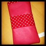 rotes Leder mit Stoff Preis: 22€